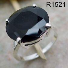 Garnet Sapphire Onyx Ring 18K white gold filled Wedding Valentine's Gift S195