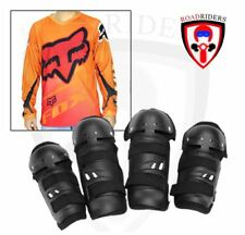 Motorcycle Dry Fit Jersey Longsleeve With Gear Set - (ORANGE) LARGE