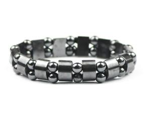 Tiger's Eye Hematite Charm Bracelets Men Women Stone Double Bracelet Jewelry