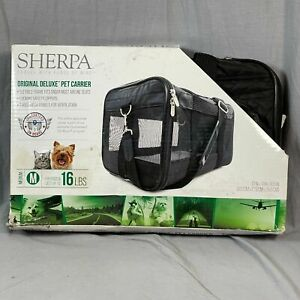 Sherpa Original Deluxe Pet Carrier Size Medium Up To 16 Lb Cat Dog Airplane New