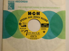 Mamie Lee 45 COME BACK TO ME / MY FUNNY VALENTINE ~ MGM VG+ soul