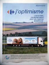 PUBLICITE-ADVERTISING :  CARREFOUR Camion Biométhane  2015 Grande Distribution