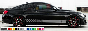 Side Stripe for BMW X5 M skirt lip Headlight 2008 2009 2010 2011 2012 2013 2014