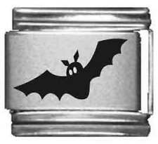 Clearly Charming Flying Bat Laser Italian Charm