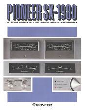 Prospekt Pioneer SX-1980