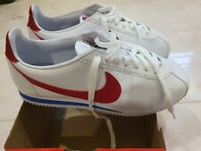 """Nike Classic Cortez Leather """"Red Swoosh"""" White Shoes SIZE 10.5 BRAND NEW"""