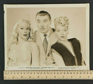 """33-GEORGE BRENT, JOAN BLONDELL  & ADELE JERGENS """"THE CORPSE CAME(Real Photo-RPPC"""
