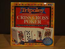 Tripoley Criss Cross Poker Game Cadaco 2005 Card Game Ten Lighting Poker Hands