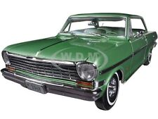 1963 CHEVROLET NOVA HARD TOP LAUREL GREEN 1/18 DIECAST MODEL CAR BY SUNSTAR 3968