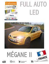 Pack 16 LED intérieur & extérieur RENAULT MEGANE 2 II ANTI ERREUR OBD BLANC PUR