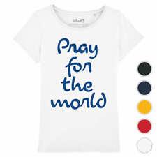 T-shirt PRAY FOR THE WORLD   tee shirt coton organique bio