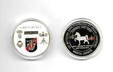"""ARMY SPECIAL FORCES GREEN BERET AIRBORNE 1.75"""" WHITE HORSE CHALLENGE COIN"""