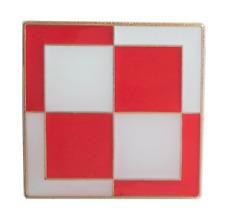 RAF Polish Air Force Siły Powietrzne Checkerboard Szachownica Lotnicza Pin Badge