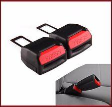 2 x Seat Safety Belt Buckle Adapter Extender Audi VW Vauxhall Bmw Mercedes Fiat