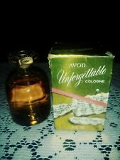 Avon Unforgettable Cologne 2 oz Full. New Old stock With Box. Great Vintage Find