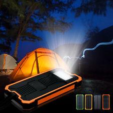 Waterproof 100000 / 300000mAh Portable Solar Charger Dual USB Battery Power Bank