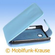 Flip Case Etui Handytasche Tasche Hülle f. LG E430 Optimus L3 II (Türkis)
