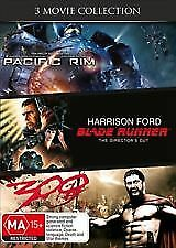 PACIFIC RIM + BLADE RUNNER (DIRECTORS CUT) + 300 - BRAND NEW & SEALED 3-DISC DVD