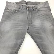 Diesel SAFADO Mens Jeans W35 L28 Grey Slim Fit Straight High Rise