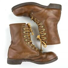 Georgia Boots Woman's 8.5 R Work Brown Leather