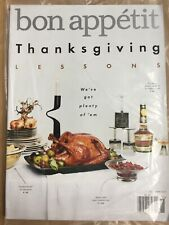 Bon Appetit Magazine November 2017 New In Plastic Ship Free Thanksgiving Lessons
