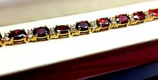 Red ruby tennis bracelet in luxury wooden Bracelet box gift idea Brilliant