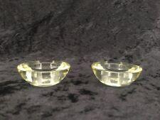 Vintage Clear Glass Votive Tea Light Holder