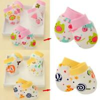 Newborn Boy Girl Infant Cotton Handguard Scratch Mittens Gloves New