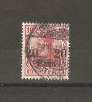 Deutsche Post in der Türkei Briefmarken 1906 20 Para auf 10 Pfennig Mi. 37