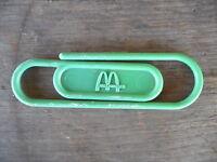 "Vintage McDonald's Restaurant Hamburger Green Plastic Paper Clip Used 5"""