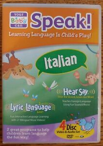 Your Baby Can Speak Italian Interactive DVD CD Learning Language Is Childs Play