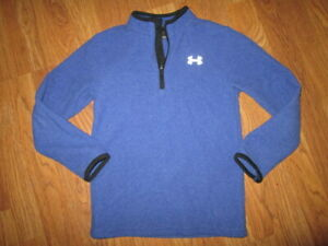 Boys UNDER ARMOUR quarter zip fleece shirt sz 7