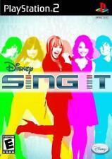 Disney Sing It Pop Music Solo+Duet Vocal Tricks PS2 NEW