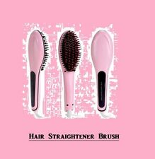 Straightening Hair Brush Adjustable LCD Temperature Ionic No Frizz