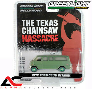 CHASE GREENLIGHT 44870A 1:64 THE TEXAS CHAINSAW MASSACRE 1972 FORD CLUB WAGON