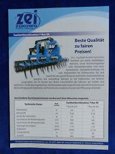 0349) ZEI Zukowo Saatbettkombination T-Rex SK - Prospekt Brochure