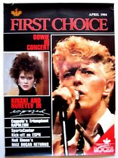 David Bowie First Choice Rocks April 1984 Canadian Tv Poster Nastassja Kinski