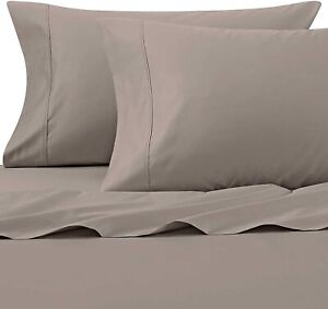 Wamsutta 625 THREAD COUNT BED SHEETS SET CAL KING PIMACOTT SOLID CLAY