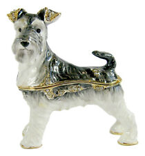 Schnauzer Dog, Decorative Jewelled Box/Figurine Approx 7cm High