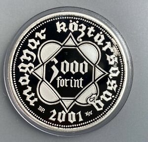 Hungary 3000 Forint 2001 BP   KM# 752   Proof  sterling silver with COA