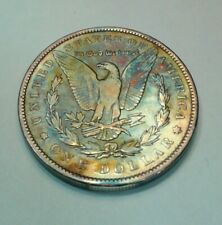 1891 morgan silver dollar with beautiful toning, toned $ ,comes in airtite
