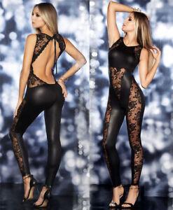 Sexy lady Exotic Catsuit PVC lingerie clubwear party bodysuit Fancy Dress outfit