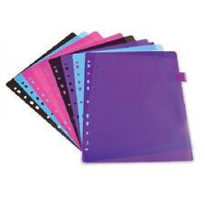10 x A4 Plastic Extra Wide Dividers Organiser School Folder Ring Binder Index