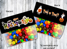 4 Halloween Trick or Teat Party Sweet Bags & Card Toppers