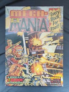 MEGA MANIA GAMES WORKSHOP VINTAGE BOARD GAMES 1987