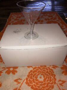 New Pack 23 Plastic Unbreakable Shatterproof Drink Martini Glass Glasses