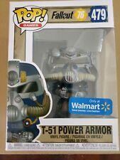 Funko Pop! Games Fallout 76 T-51 Blue Power Armor #479 Walmart Exclusive