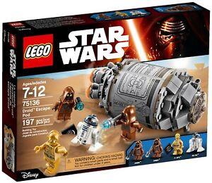LEGO Starwars 75136 Droid Escape Pod - New (Free Shipping)