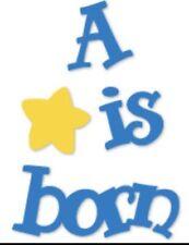 NEW Sizzix Die A Star Is Born Kids Baby Sizzlits DieCut Scrapbooking Birthday