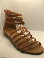 Top Moda Womens Sandals Strappy Gladiator Faux Leather Tan Size 5
